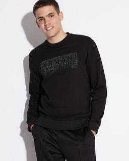 Czarna  logowana bluza