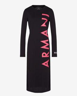 Czarna sukienka z logo