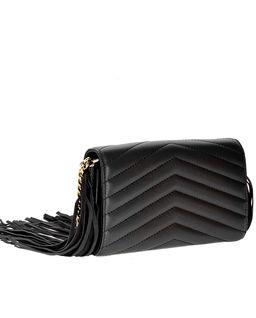 Skórzany portfel z frędzlami