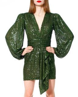 Zielona sukienka z cekinami