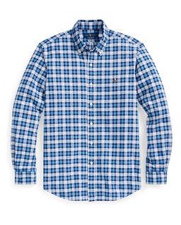 Niebieska koszula w kratkę