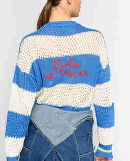 Ażurowy sweter z haftem Graciosa