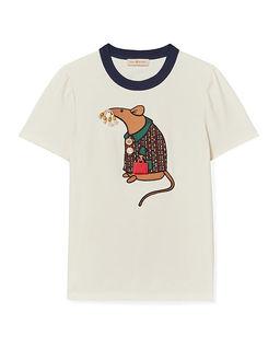 Biała koszulka z myszką