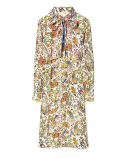 Jedwabna sukienka ze wzorem