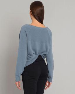 Sweter z haftowanym logo