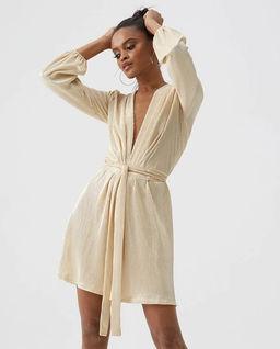 Złota sukienka Banks