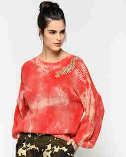 Sweter z kryształami Tremiti