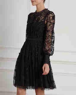 Czarna sukienka Whitethorn