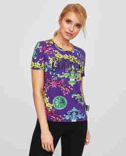 Fioletowy t-shirt z printem