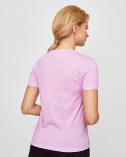 Różowy t-shirt we wzory