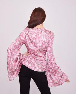 Jedwabna różowa bluzka