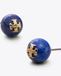 Niebieskie kolczyki z logo