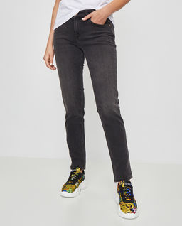 Szare jeansy regular fit