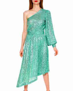 Sukienka asymetryczna midi z cekinami Veronica