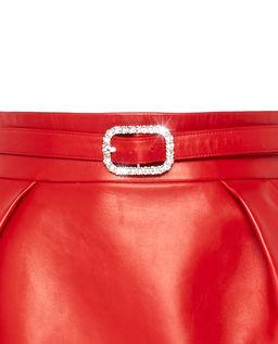 Czerwona spódnica ze skóry