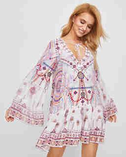 Krótka sukienka z jedwabiu