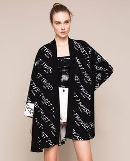 Logowany kardigan typu kimono