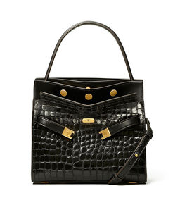 Czarna torebka Lee Radziwill Small Double Bag