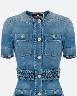 Jeansowa sukienka mini