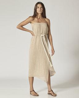 Beżowa sukienka Victor