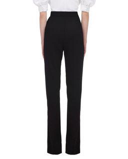 Czarne spodnie z rozcięciem