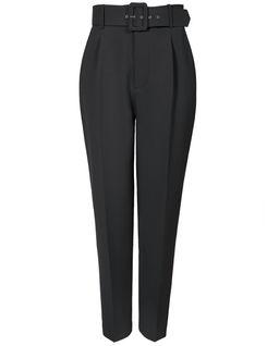 Spodnie czarne z paskiem