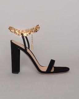Czarne sandały Tebe