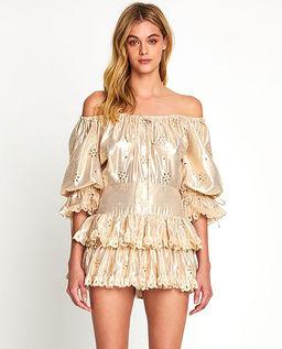 Jasnobeżowa sukienka Electric Galaxy