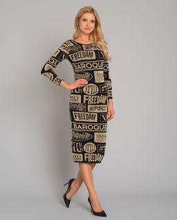 Sukienka midi z napisami