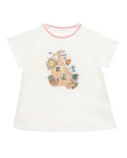 Biała koszulka z nadrukiem Kirrra 2-10 lat