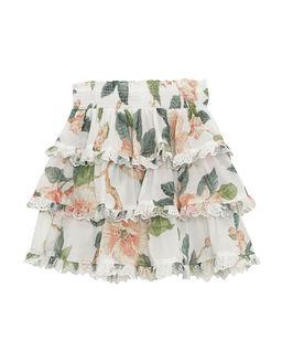 Biała spódnica w kwiaty Kirra 6-10 lat