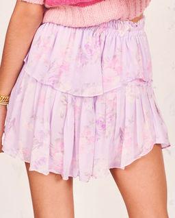 Jedwabna fioletowa spódnica Ruffle