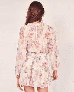 Jedwabna sukienka w kwiaty Popover