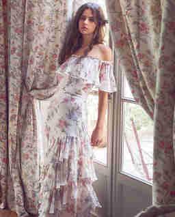 Jedwabna sukienka w kwiaty Plum