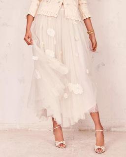 Biała tiulowa spódnica Rowena