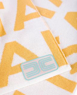 Logowany szalik z wełny