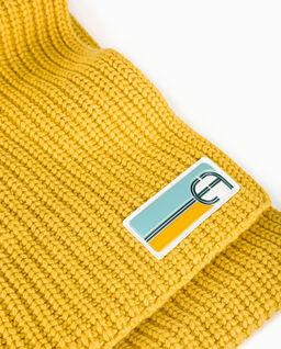 Żółty szalik z logo
