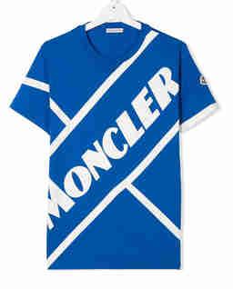 Niebieska koszulka z logo 4-12 lat