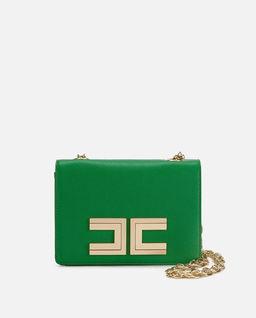 Zielona torebka z logo marki