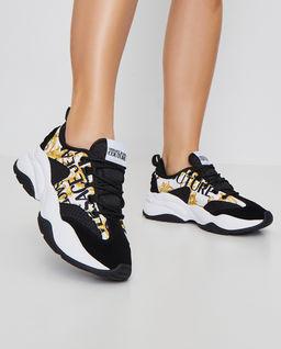 Vícebarevné sneakersy s logem