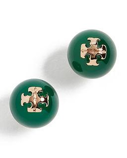 Zielone kolczyki z logo