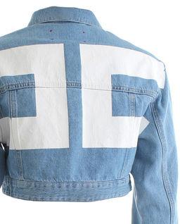 Jeansowa kurtka z nadrukiem