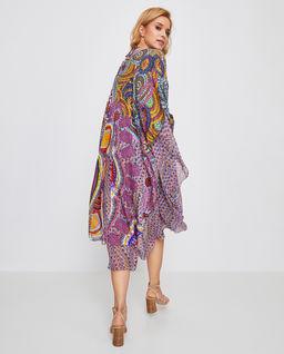 Wiązane kimono z jedwabiu