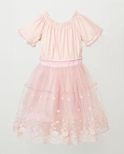 Różowa sukienka z tiulem