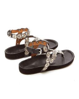 Czarne sandały Eldo