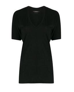 Czarny t-shirt z bawełny