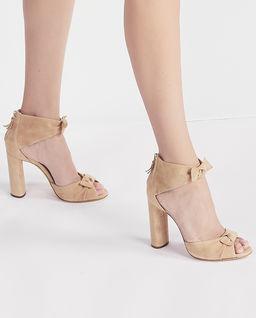 Beżowe sandały na słupku Alice