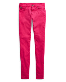 Różowe spodnie Stretch Skinny