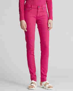 Růžové kalhoty Stretch Skinny