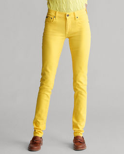 Żółte spodnie Stretch Skinny